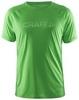 Мужская футболка для бега Craft Prime Run 1902497-1606 зеленая