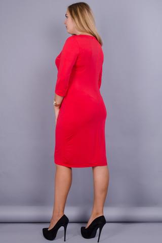 Арина. Платье для больших размеров. Красный.