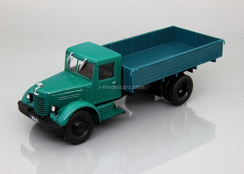 YaAZ-200 flatbed truck green-blue 1:43 DeAgostini Auto Legends USSR Trucks #19