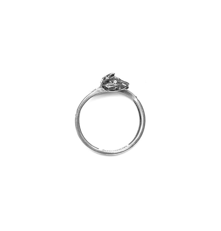 Lynx Totem Ring, sterling silver