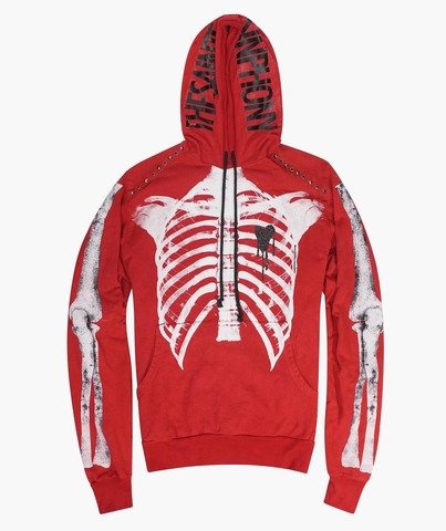 Толстовка The Saints Sinphony  3332 – RIBCAGE HOODIE RED