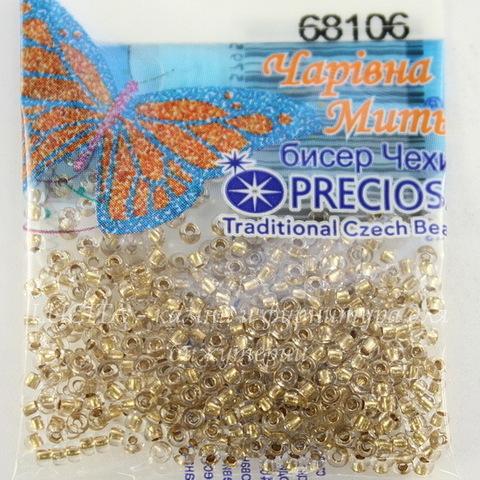 68106 Бисер 10/0 Preciosa прозрачный с бронзовым центром