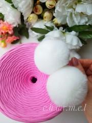 Помпоны, Кролик 5-6 см, цвет Белый, 2 шт