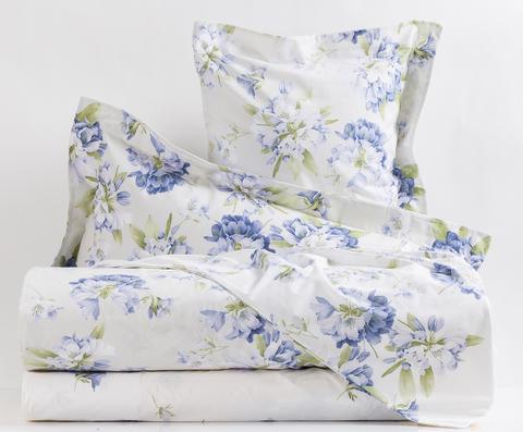 Постельное белье 2 спальное евро Mirabello Rododendri с голубыми цветами