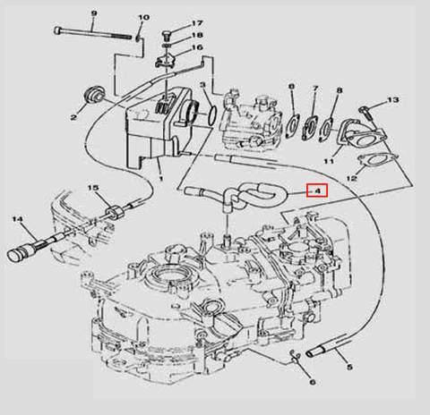 Трубка 11×7 для лодочного мотора F5 Sea-PRO(6-4)