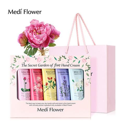 Medi flower The Secret Garden of five Hand cream set Подарочный набор кремов для рук «Цветочный сад» (5 шт * 50г)