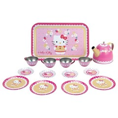 Smoby Набор посудки 14 пр., металлическая, Hello Kitty (24592)