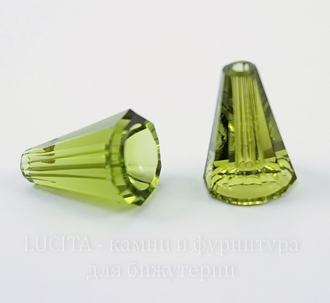 5540 Бусина - конус Сваровски Olivine 12 мм