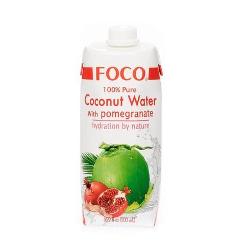 FOCO кокосовая вода с соком граната 500 мл