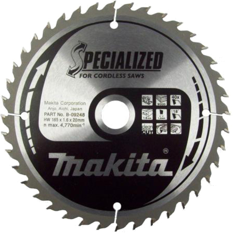 Пильный диск по дереву Z20 Specialized Makita B-31142 (85*15*1мм)