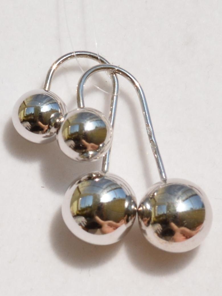 Протяжки шарики (серьги из серебра)