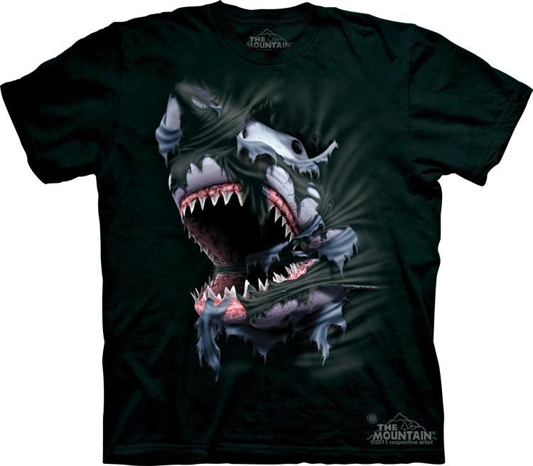 Футболка Mountain с изображением прорывающейся акулы - Breakthrough Shark