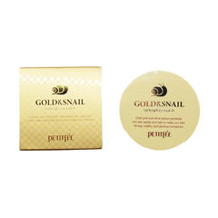 Патчи для глаз Petitfee Gold & Snail Hydrogel Eye Patch, 60 шт