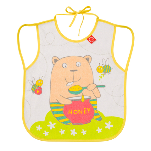 Нагрудный фартук Happy Baby BABY BIB WITH HANGERS Арт.16011N Yellow