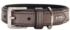 Ошейник для собак Hunter Capri 45 (33-39 см)/2,8 натуральная кожа коричневый перламутр/черный