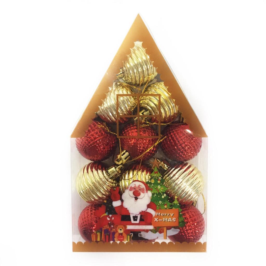 Набор новогодних елочных украшений Merry X-Mas, 12 шт