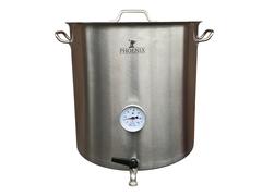 Сусловарочный котел 50,3 л Пивоварня.ру с краном и термометром (уценка)