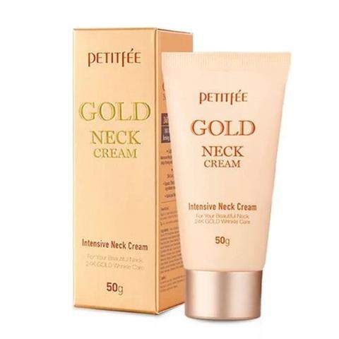Крем для шеи антивозрастной с золотом Petitfee Gold Neck Cream 50мл