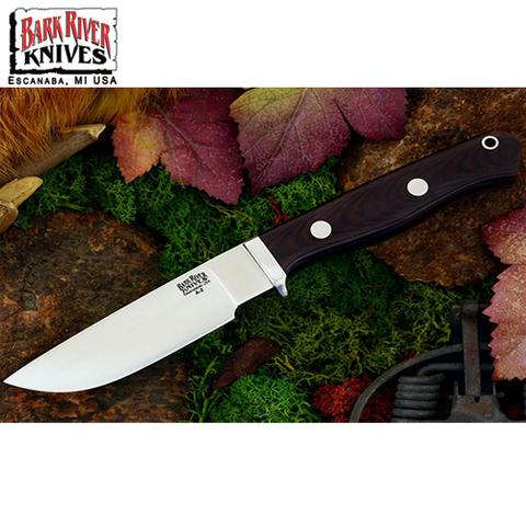 Нож Bark River модель Gameskeeper Maroon Linen Micarta