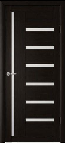 Дверь La Stella 217, стекло матовое, цвет дуб мокко, остекленная