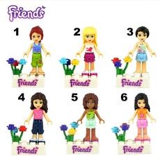 Minifigures Friends Barbie Doll Blocks Building