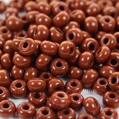 Бисер 6/0 Preciosa непрозрачный, коричневый