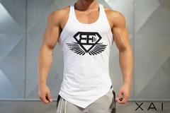 Мужская майка-боксерка Body Engineers XA1 – WHITE OUT