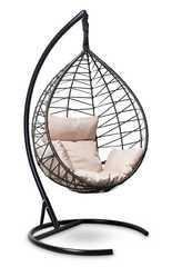 Подвесное кресло-кокон ALICANTE черное с золотом