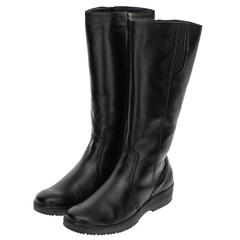 562559 сапоги женские черные больших размеров марки Делфино
