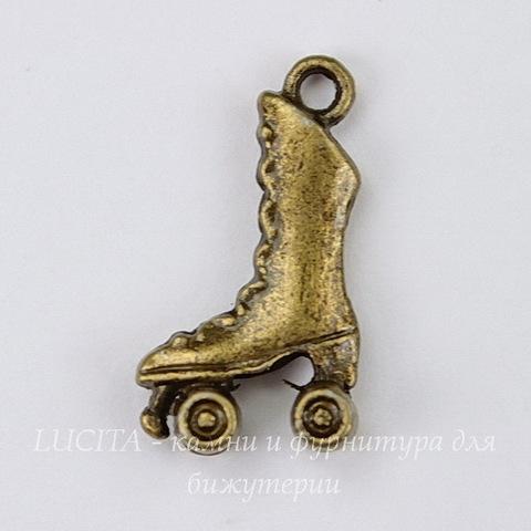 """Подвеска """"Ролики"""" 21х12 мм (цвет - античная бронза)"""