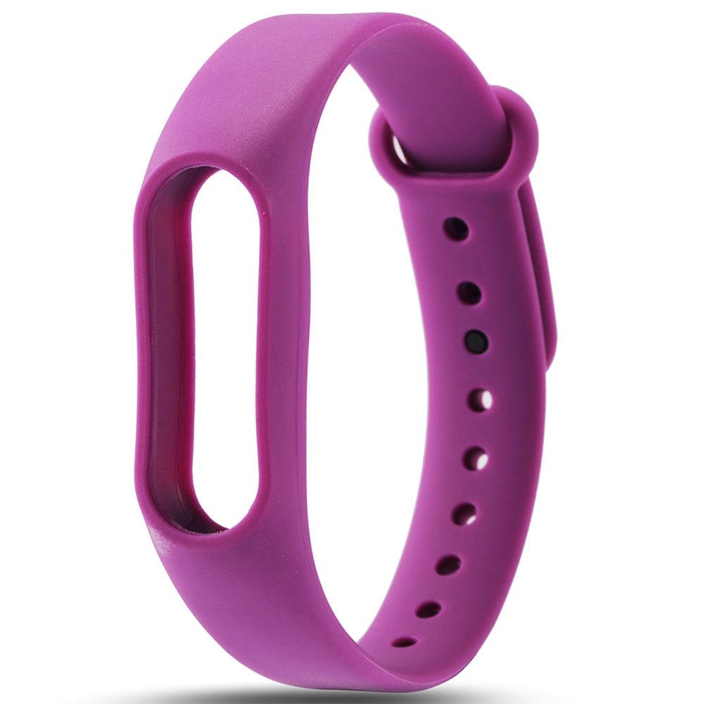 Фиолетовый вариант цвета сменного цветного браслета на Smart Mi Band 2