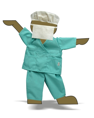 Хирург - Демонстрационный образец. Одежда для кукол, пупсов и мягких игрушек.