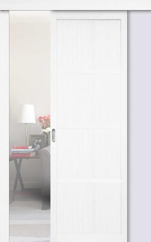 Перегородка межкомнатная Optima Porte 104.1111, цвет белый монохром, глухая (за 1 кв.м)