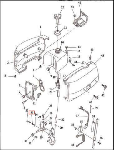 Пружина  для лодочного мотора T2,5 SEA-PRO (1-23)
