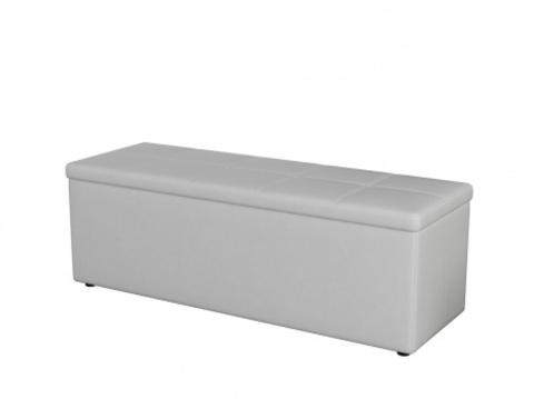 Пуф Orma Soft 2 двухместный Экокожа: Белый