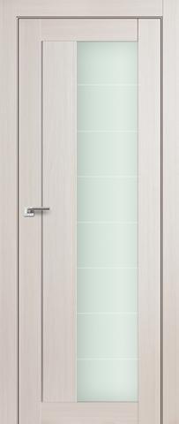 Дверь Profil Doors №47Х, стекло матовое, цвет эш вайт мелинга, остекленная