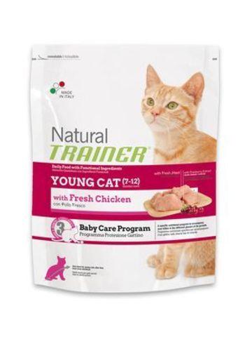 Trainer Сухой Корм Natural Young Cat для молодых котов от 7 до 12 месяцев 1,5 кг.