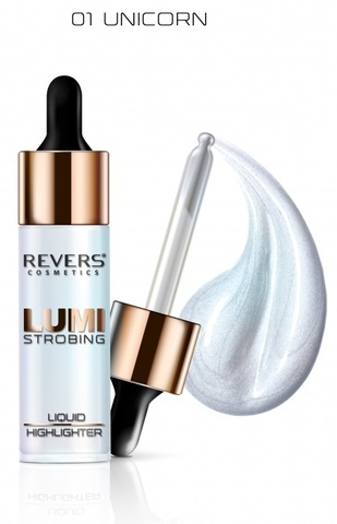 Revers Хайлайтер LUMI STROBING №01 UNICORN 15ml (*24шт + 6 тестеров)