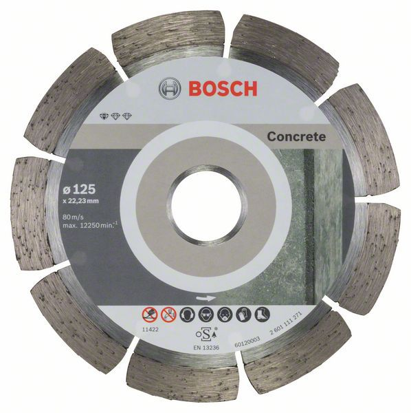 Алмазный диск Standart for Concrete 125-22,23 10шт Bosch 2608603240