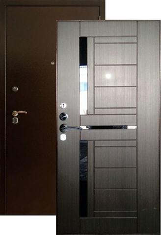 Дверь входная Форт Форт Б-15, 2 замка, 1,8 мм  металл, (медь антик+венге)