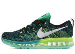 Кроссовки Мужские Nike Air Max 2014 Flyknit Black Green Turquoise