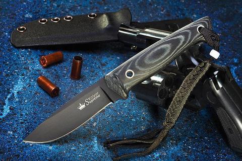 Туристический нож Santi D2 Black Titanium с Kydex