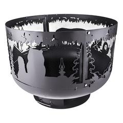Чаша для костра Fire Cup Очаг Уютный с кольцом Ёжик в тумане