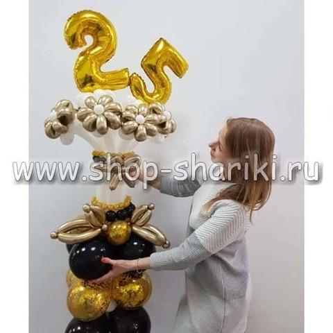 Букет цветов из шаров с цифрами