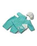 Хирург - Зеленый. Одежда для кукол, пупсов и мягких игрушек.