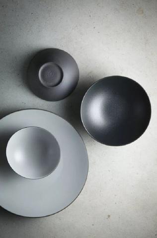 Фарфоровая глубокая тарелка Pepper 15 см, серая, артикул 649587, серия Equinoxe