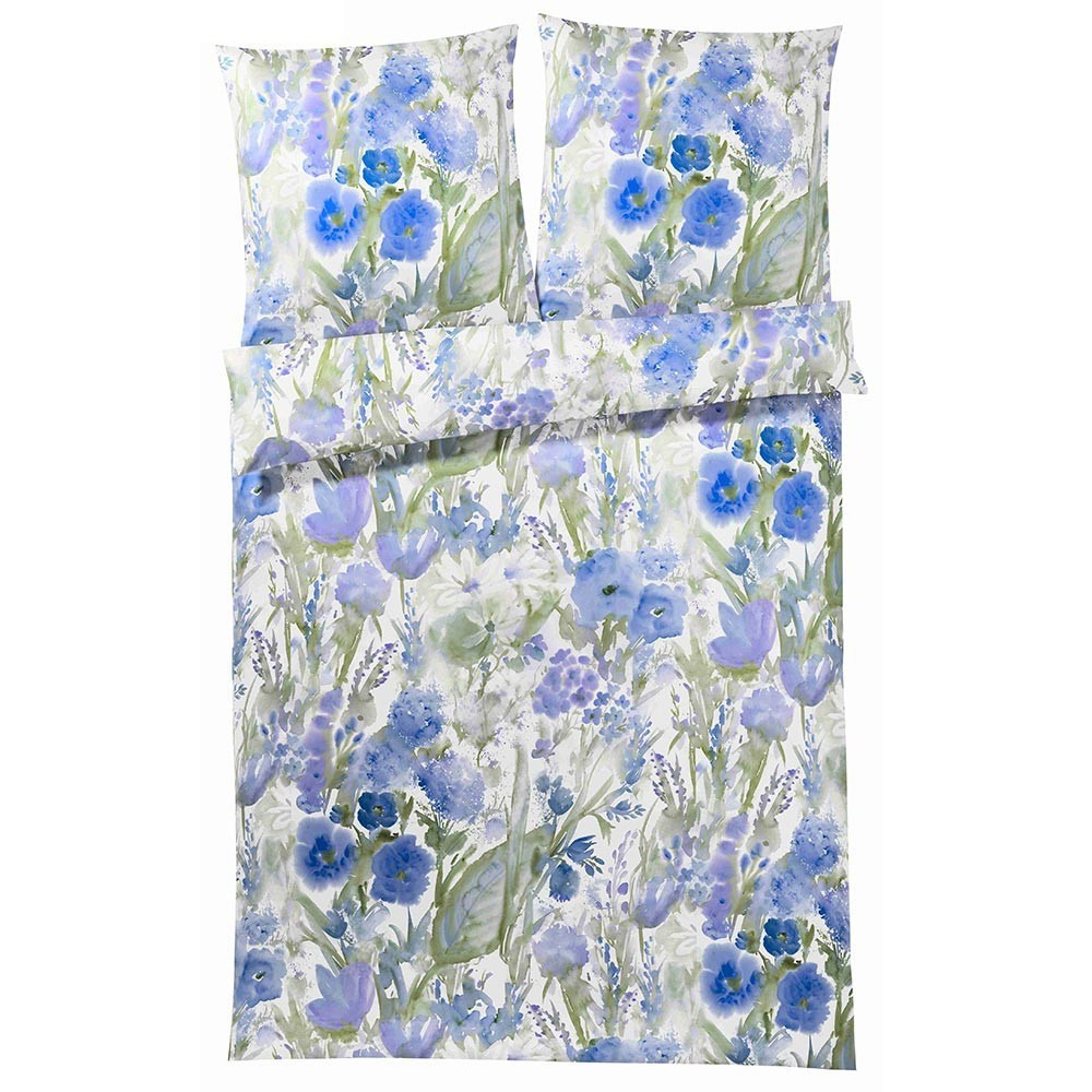 Постельное белье 2 спальное евро Elegante Avignon синее