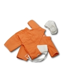 Хирург - Оранжевый. Одежда для кукол, пупсов и мягких игрушек.