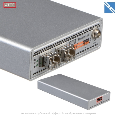 Контроллер ATTO Technology ThunderLink FC 2082 Thunderbolt 2 to Fibre Channel Desklink Device