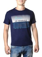 17614-3 футболка мужская, темно-синяя